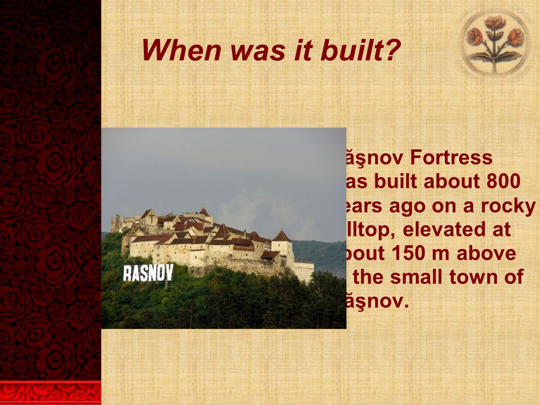 When was it built.