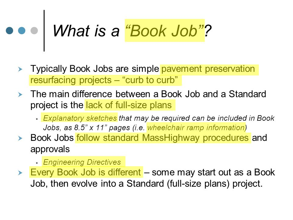 What is a Book Job .