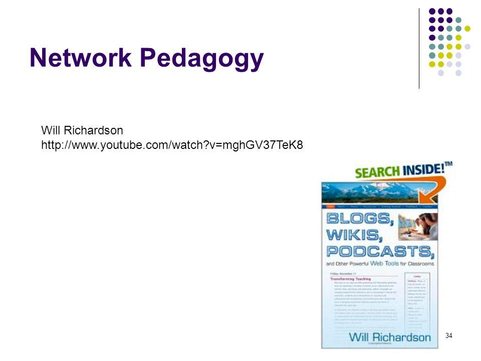 Network Pedagogy Will Richardson http://www.youtube.com/watch v=mghGV37TeK8 34