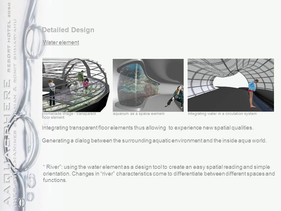 promenade image - transparent floor element aquarium as a spatial element Integrating transparent floor elements thus allowing to experience new spatial qualities.