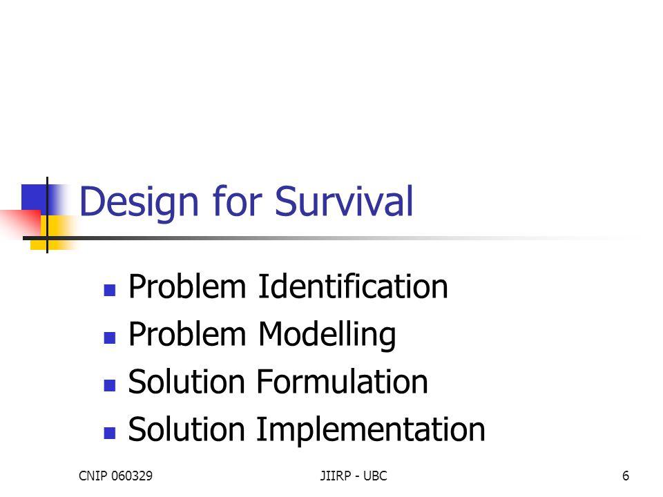 CNIP 060329JIIRP - UBC7 Problem Identification