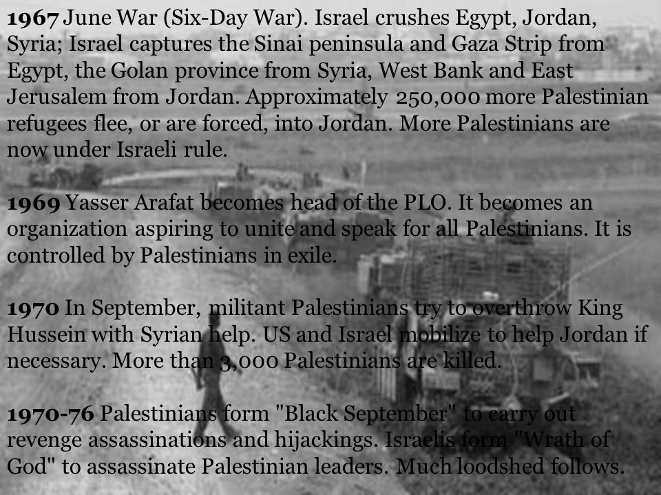 1967 June War (Six-Day War).
