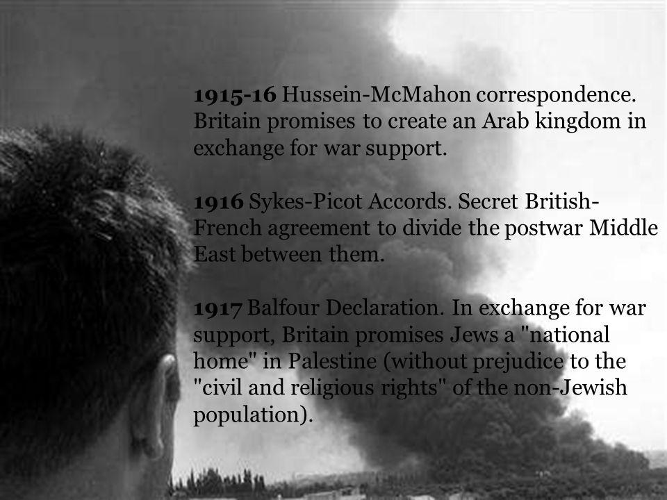 1915-16 Hussein-McMahon correspondence.