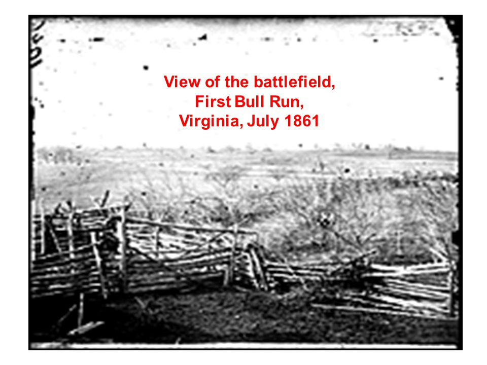 View of the battlefield, First Bull Run, Virginia, July 1861