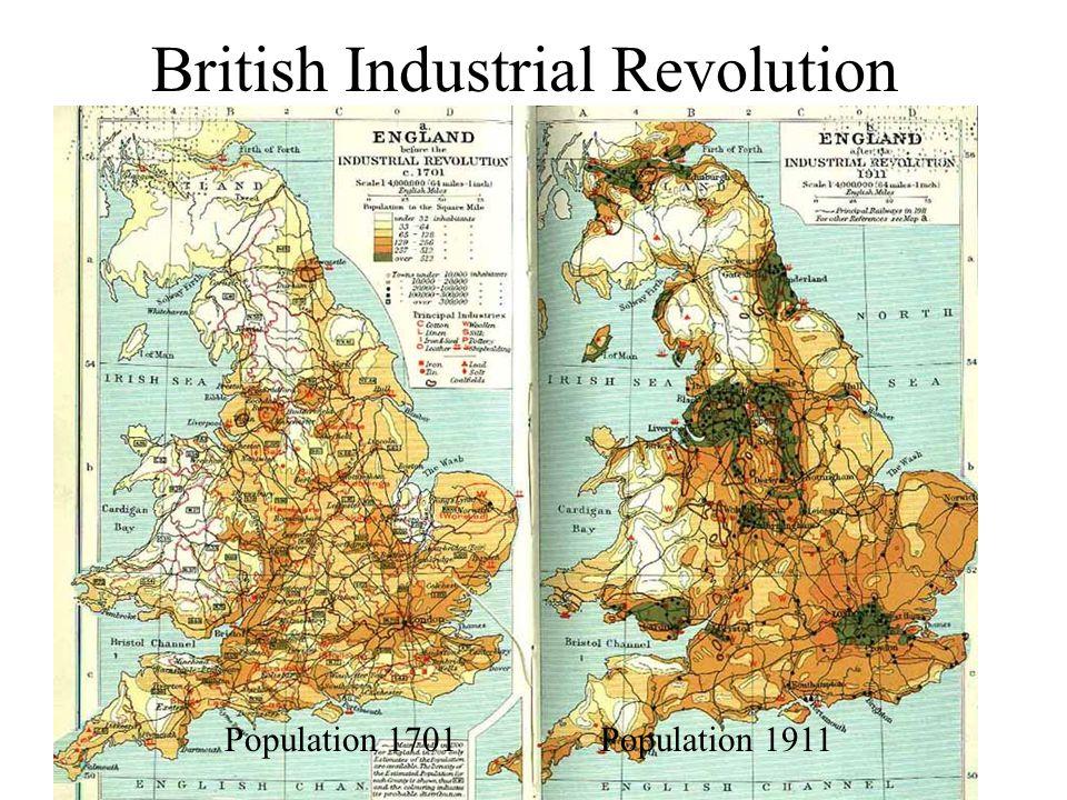 British Industrial Revolution Population 1701 Population 1911