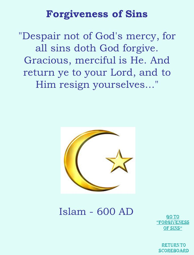 Forgiveness of Sins Despair not of God s mercy, for all sins doth God forgive.
