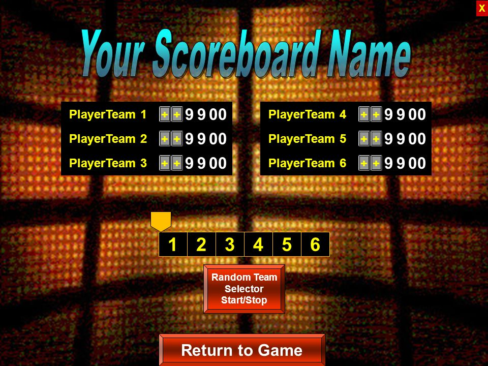 Copyrighted © 2007 Training Games, Inc. Scoreboard Who won the game...