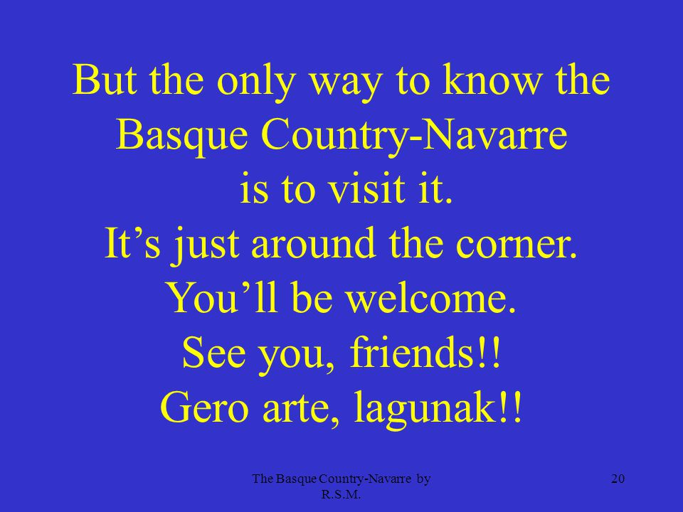 The Basque Country-Navarre by R.S.M.
