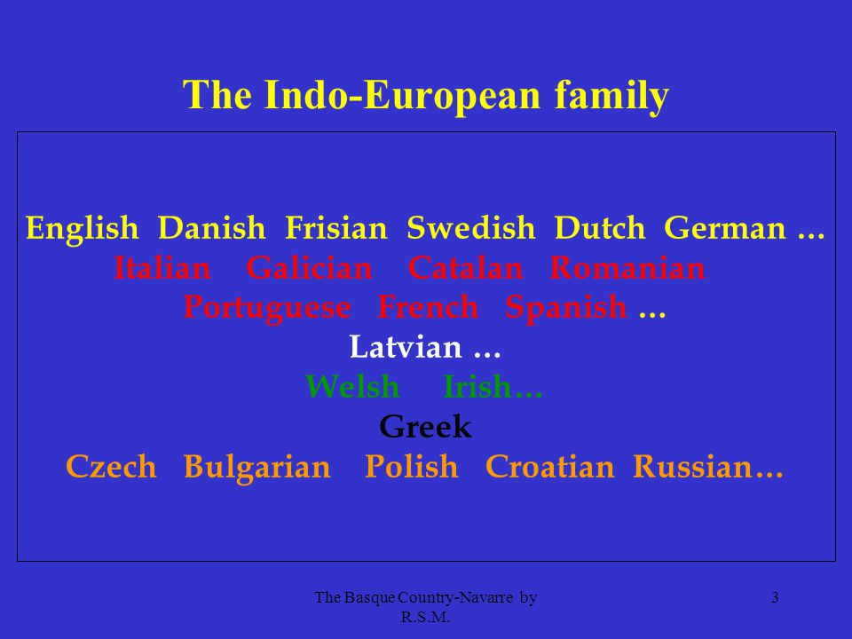 The Basque Country-Navarre by R.S.M. 4 The Finno-Ugric family Estonian Suomi/Finnish Hungarian
