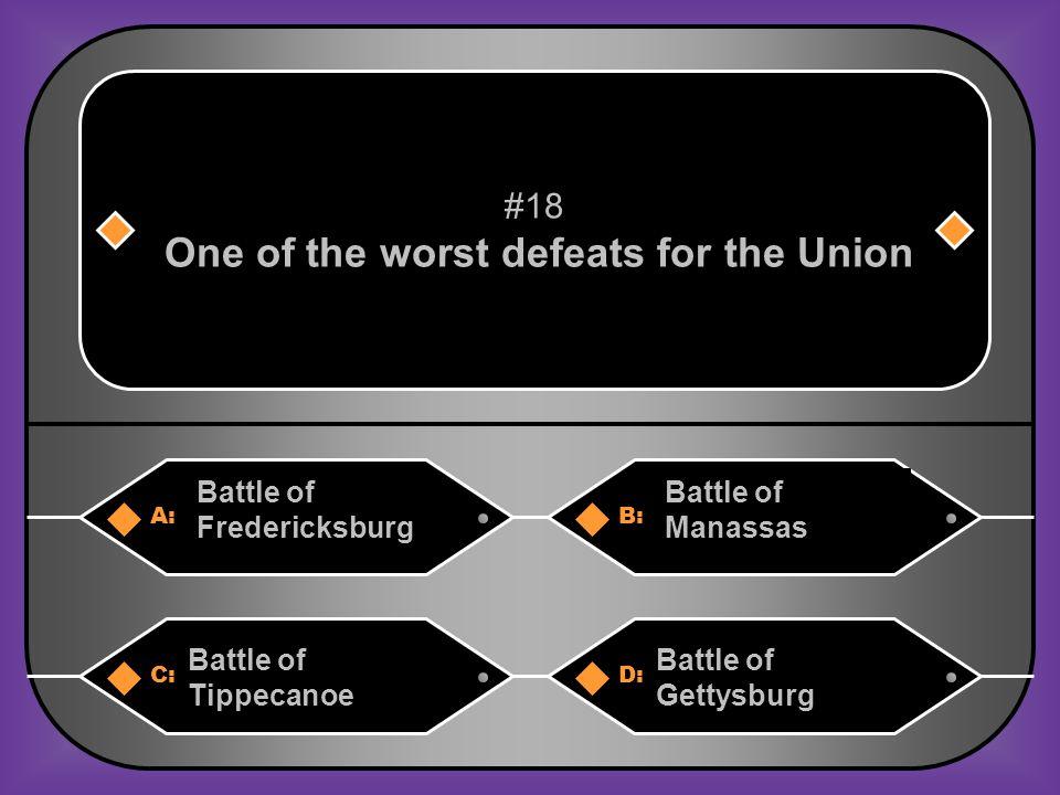 D. Battle of Chancellorsville