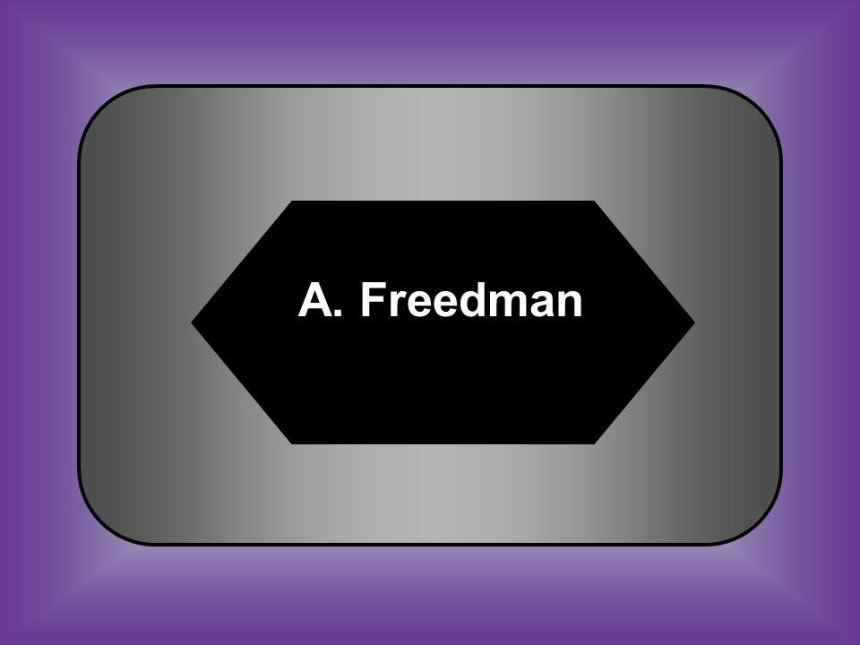A:B: FreedmanSharecropper C:D: CarpetbaggerScalawag #28 Former slave