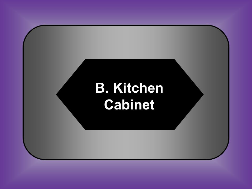 A:B: CabinetKitchen Cabinet C:D: Spoils SystemMajority #43 Group of unofficial Presidential advisors
