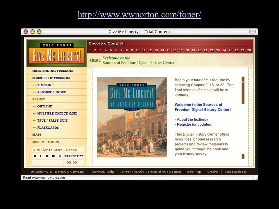 Go to website http://www.wwnorton.com/foner/