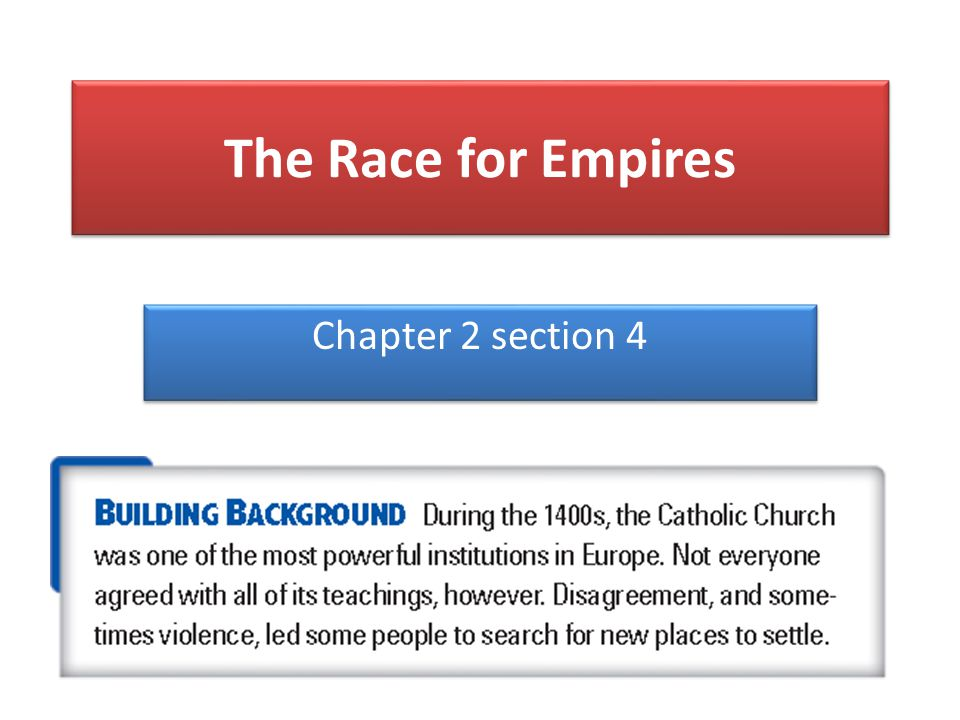 The Race for Empires Chapter 2 section 4