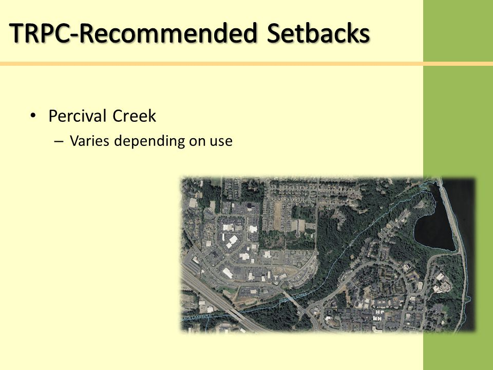 Percival Creek – Varies depending on use