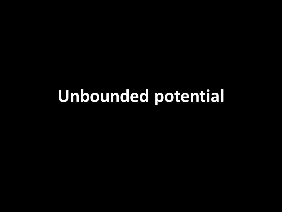 Unbounded potential