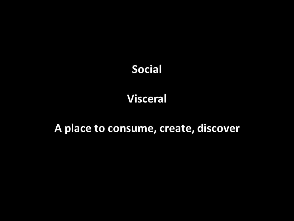 Social Visceral A place to consume, create, discover
