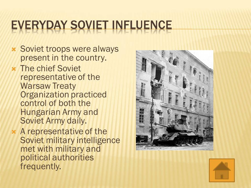  The Soviets military was linked with Hungary's armed forces.