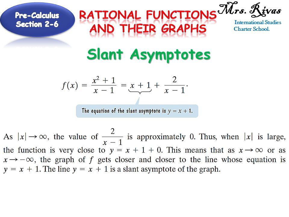 Mrs. Rivas International Studies Charter School. Slant Asymptotes