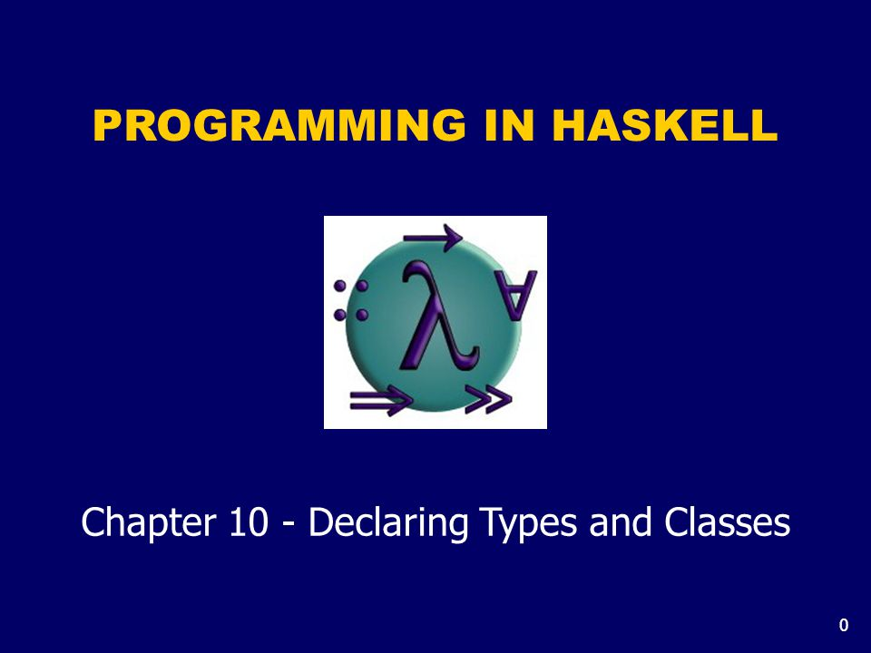 0 PROGRAMMING IN HASKELL Chapter 10 - Declaring Types and Classes