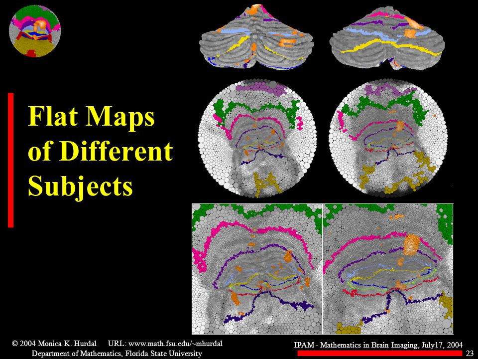 IPAM - Mathematics in Brain Imaging, July17, 2004 © 2004 Monica K.