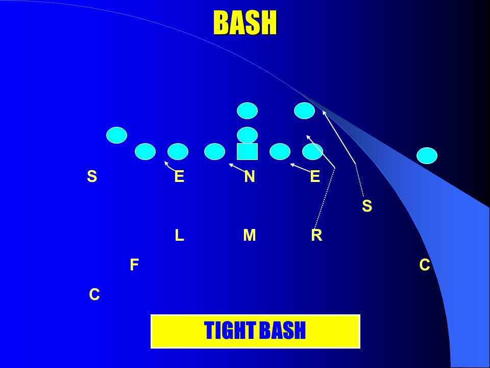 BASH S E N E S L M R F C C OPEN BASH (Backer And Spur) Corner and FS will catch the spill