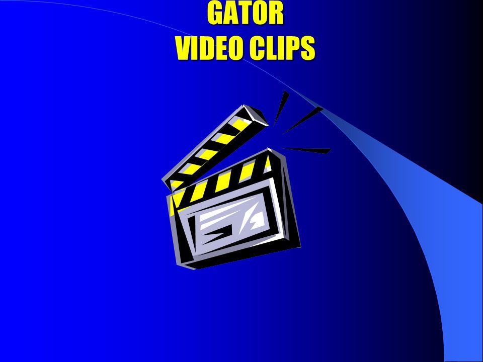 GATOR VIDEO CLIPS