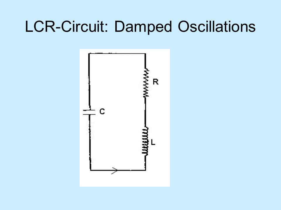 LCR-Circuit: Damped Oscillations