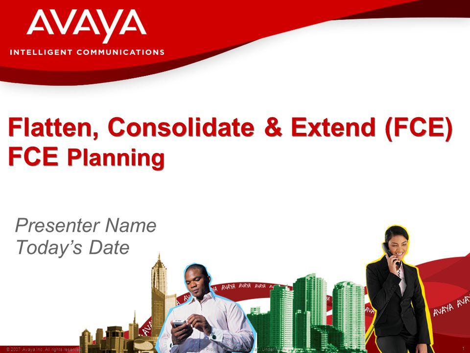 1 © 2007 Avaya Inc. All rights reserved. Avaya – Proprietary & Confidential.