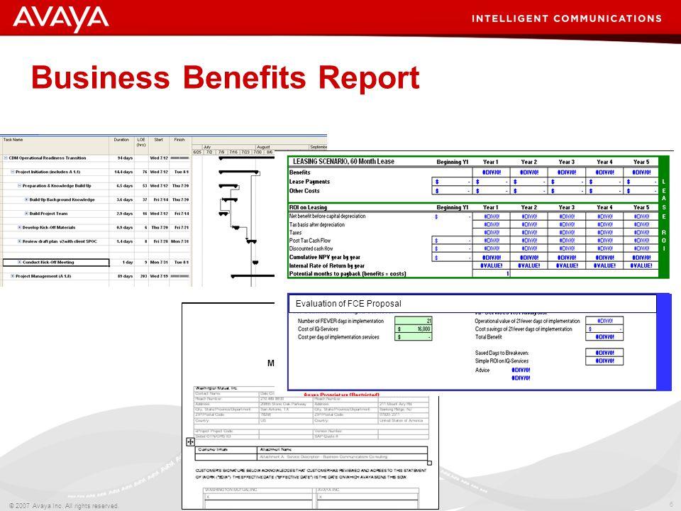 7 © 2007 Avaya Inc.All rights reserved. Avaya – Proprietary & Confidential.
