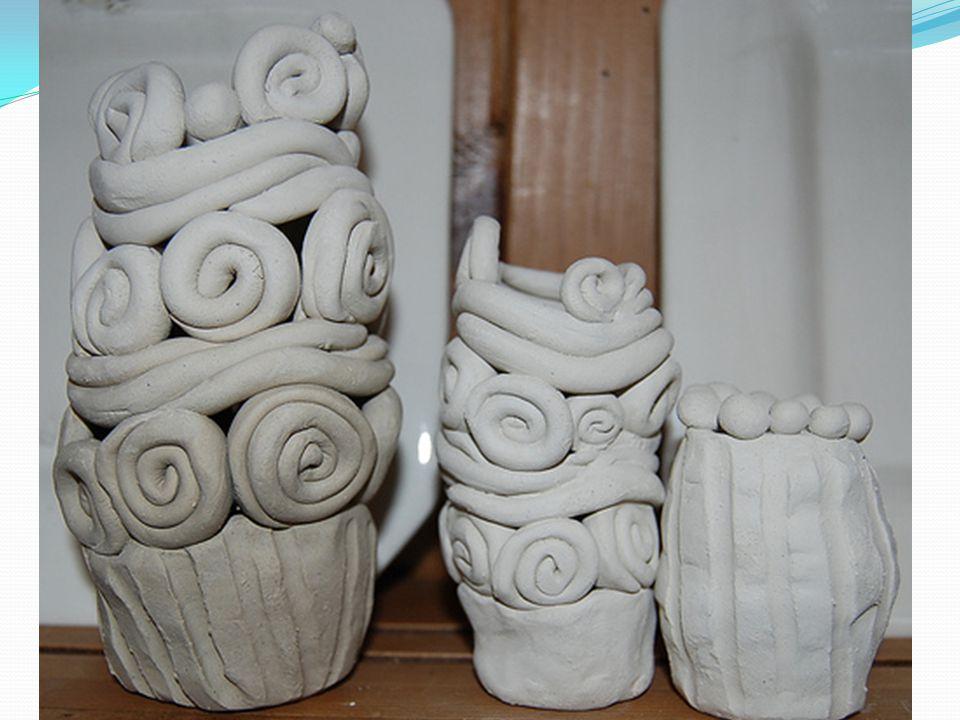 Smoothed out coils create a beautfiul pot