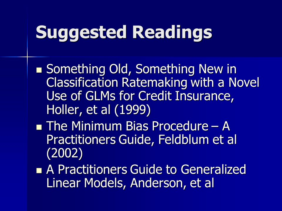 Suggested Readings ASB Standards of Practice No. 9 and 12 ASB Standards of Practice No.