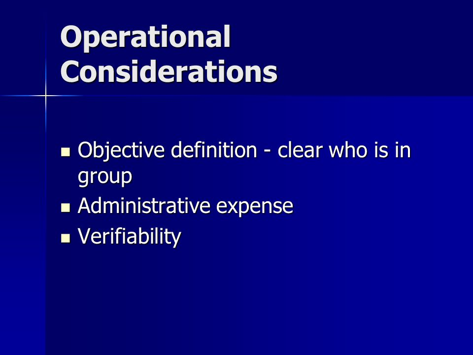 Considerations in setting rating distinctions Operational Operational Social Social Legal Legal Actuarial Actuarial