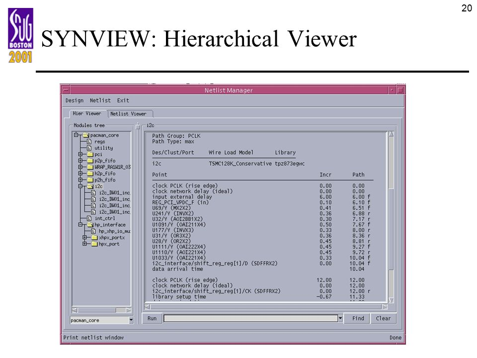 20 SYNVIEW: Hierarchical Viewer