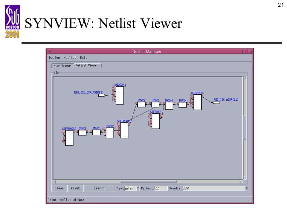 21 SYNVIEW: Netlist Viewer