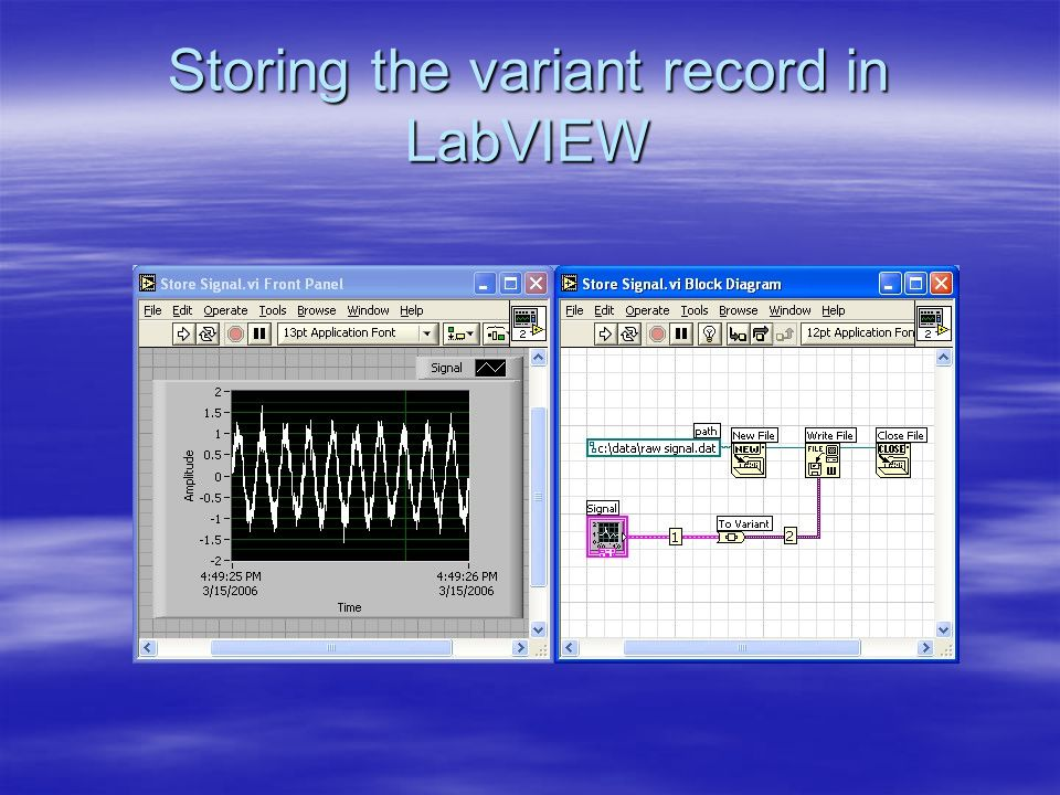 Restoring and processing the variant record in IDL