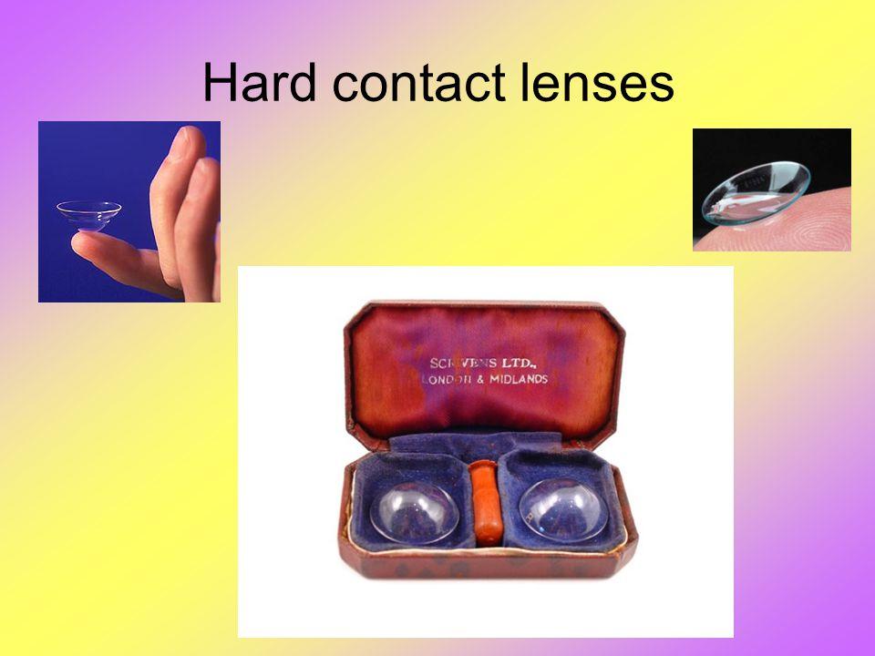 Hard contact lenses