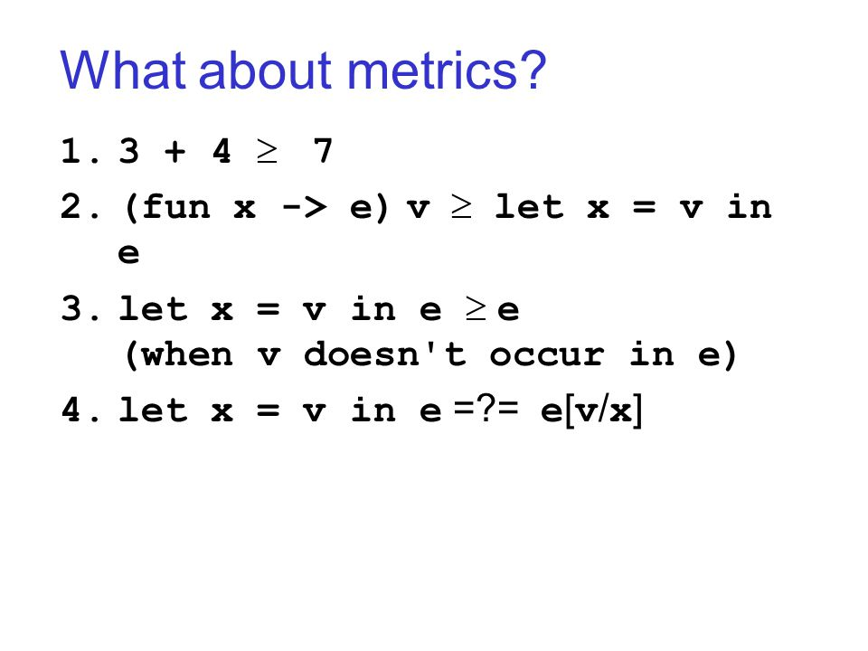 What about metrics.