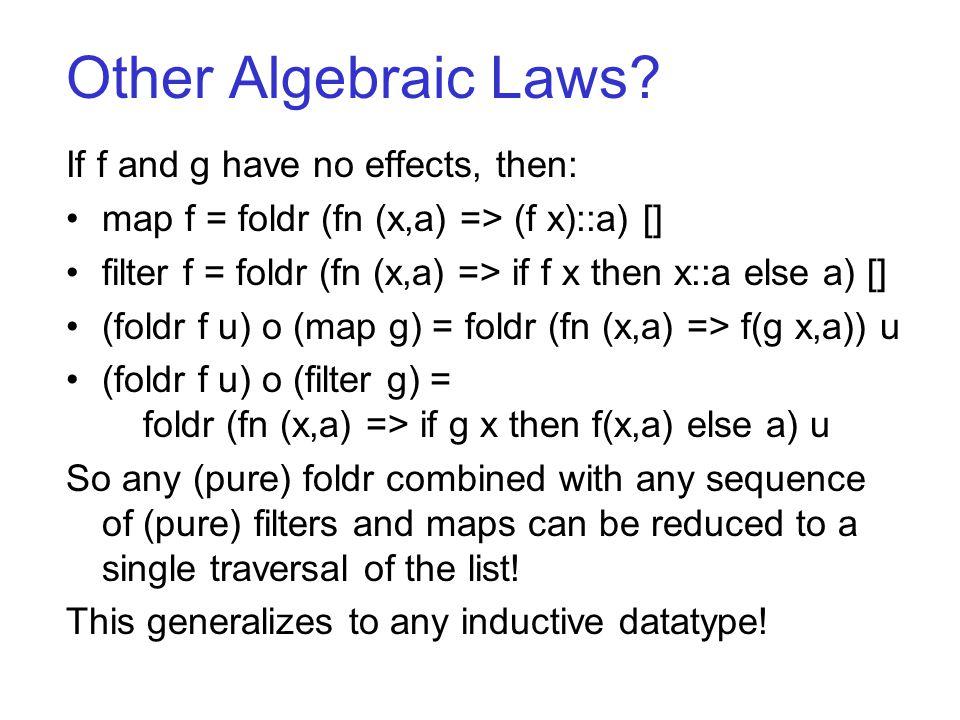 Other Algebraic Laws.
