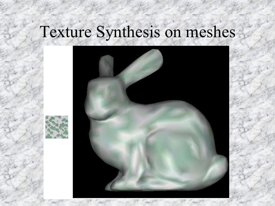 Texture Synthesis on meshes