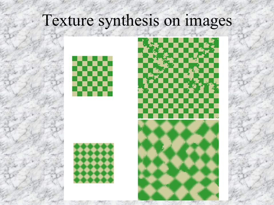 Texture synthesis on images