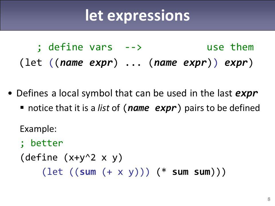 9 Scheme exercise Define a procedure named math!.