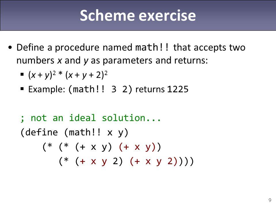 10 Limitation of let expressions (define (math!.