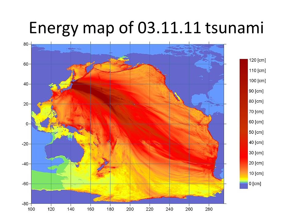 Energy map of 03.11.11 tsunami
