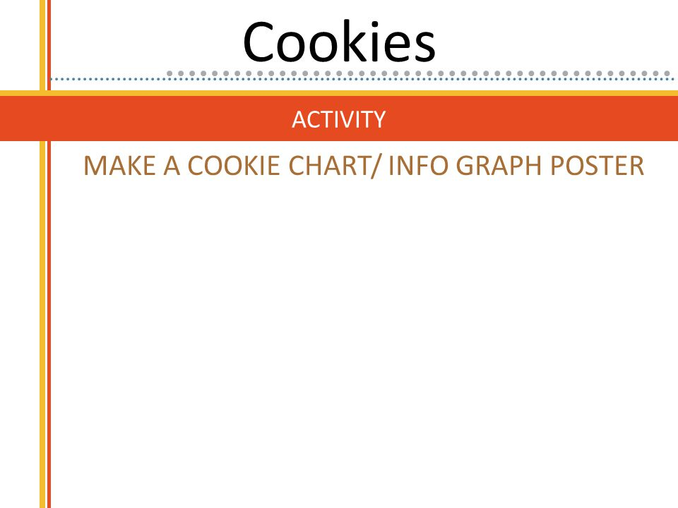 ACTIVITY MAKE A COOKIE CHART/ INFO GRAPH POSTER Cookies
