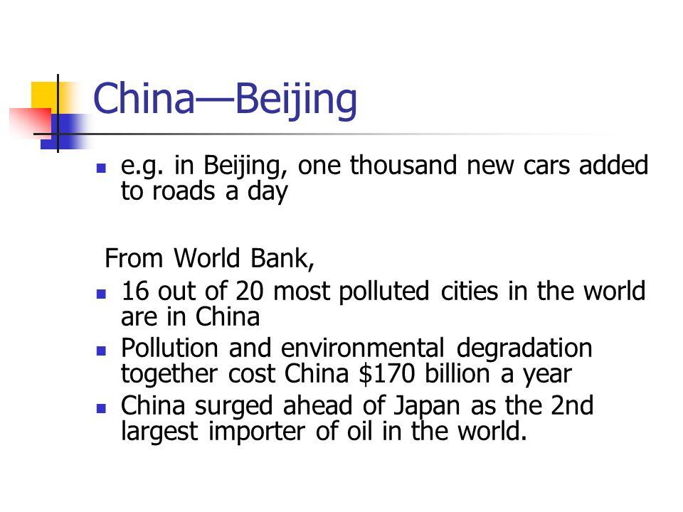 China—Beijing e.g.