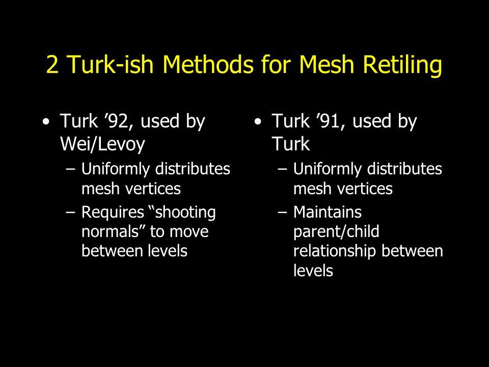 Image & Mesh Pyramids Mesh Retiling [Turk'92]