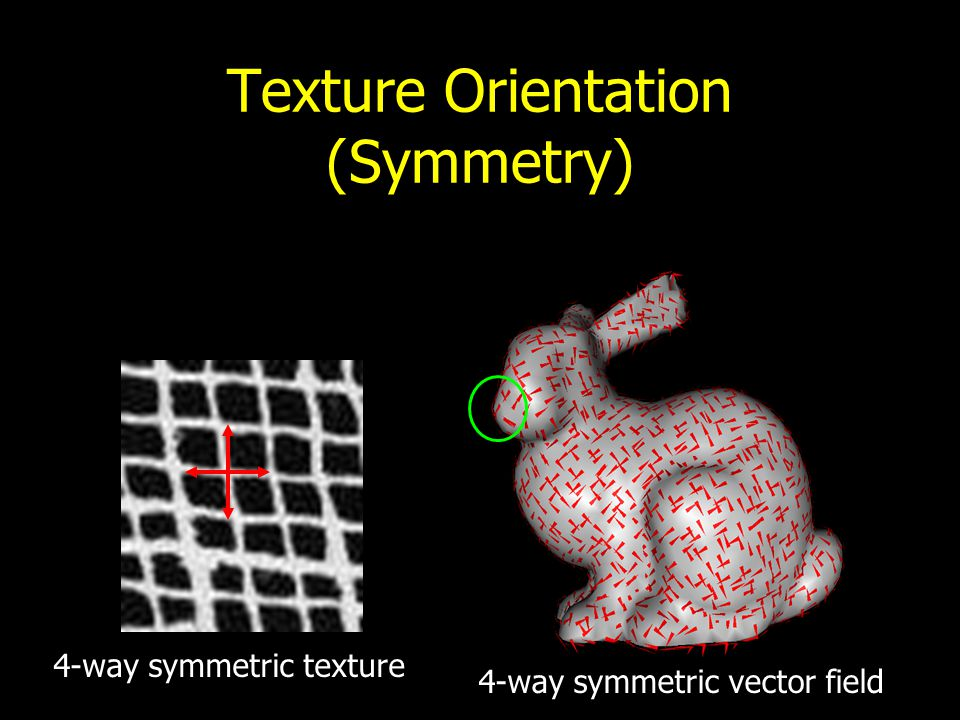 Texture Orientation (User-specified)