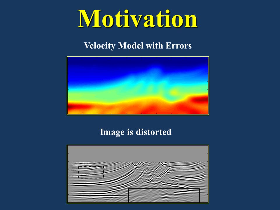 Motivation Image is distorted Velocity Model with Errors