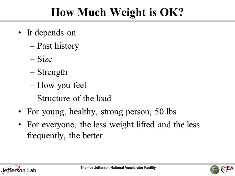 How Much Weight is OK.